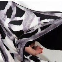 Darkroom Susie Green Wash Scarf, Black. 100% silk, £75