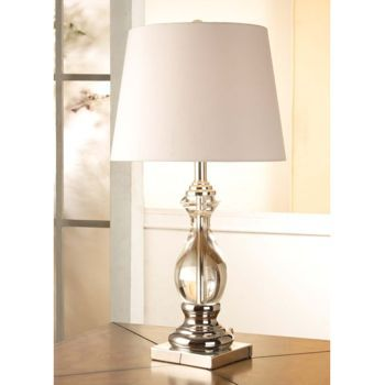 Costco Clear Teardrop Solid Glass Lamp Side Table Lamps