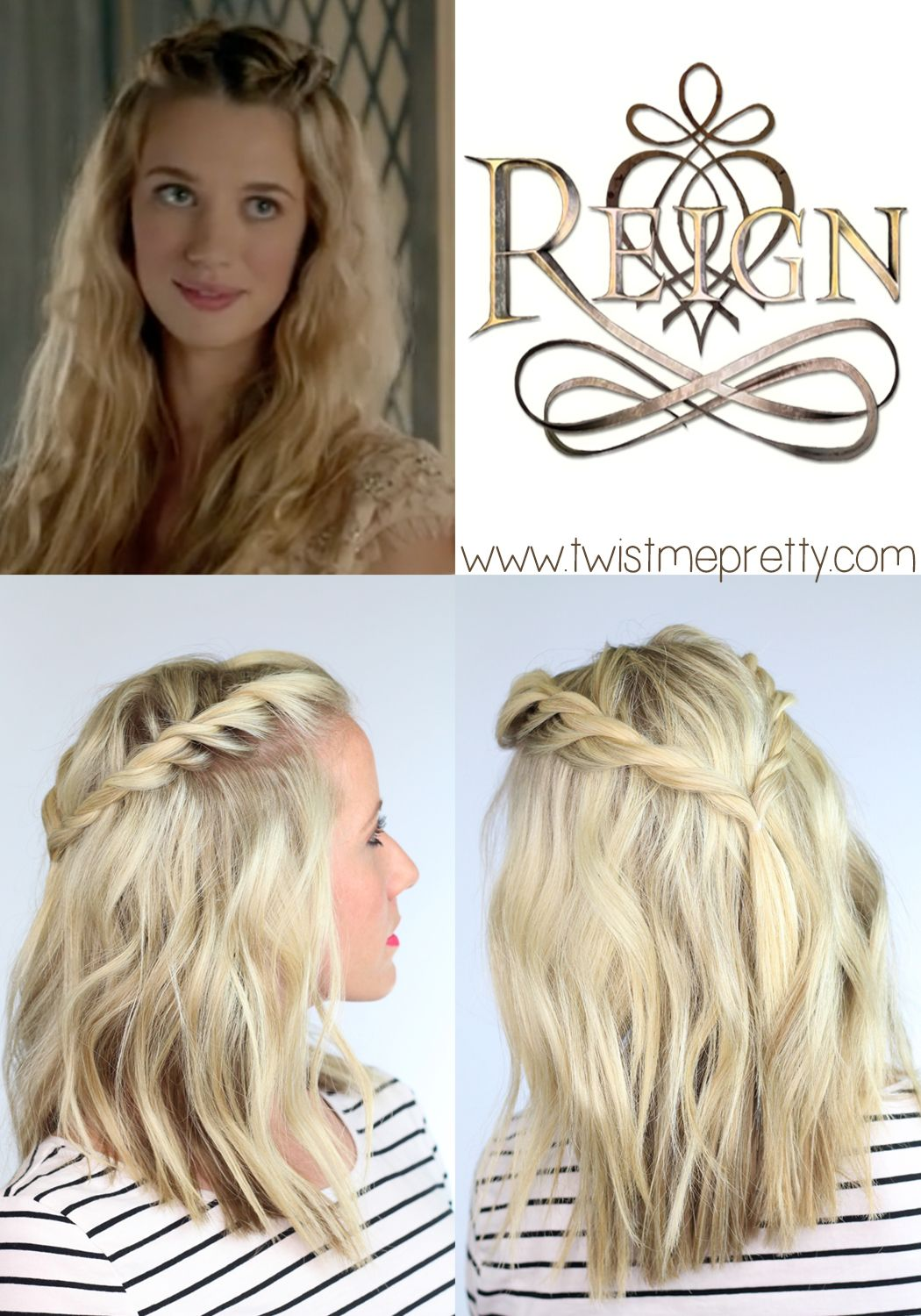 Twisted Reign Hairstyle Twist Me Pretty Reign Hairstyles Hair Styles Bohemian Hairstyles