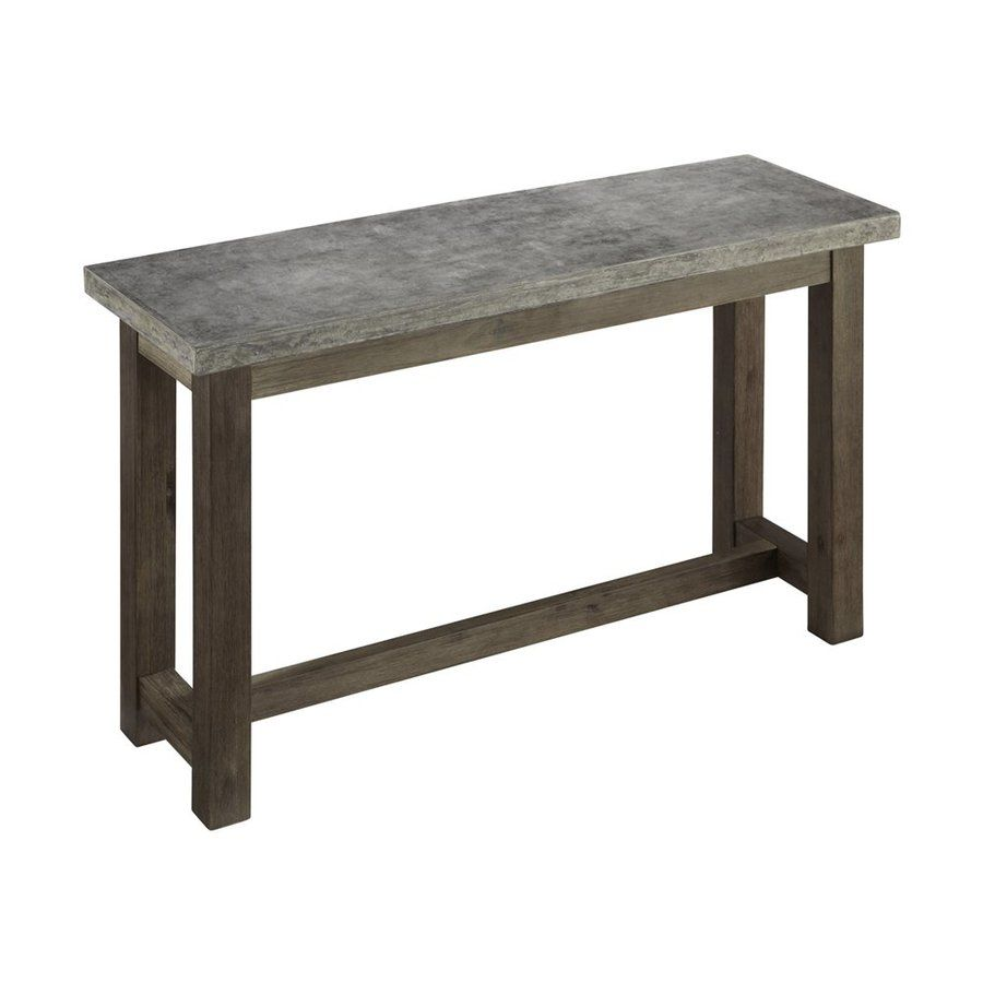 Home Styles Concrete Brown Gray Acacia Rectangular Console And Sofa Table At Lowes