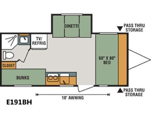 Pin On Travel Trailer Floorplans