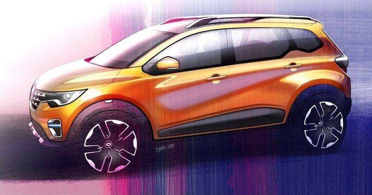 Car And Sketch On Instagram Renault Triber