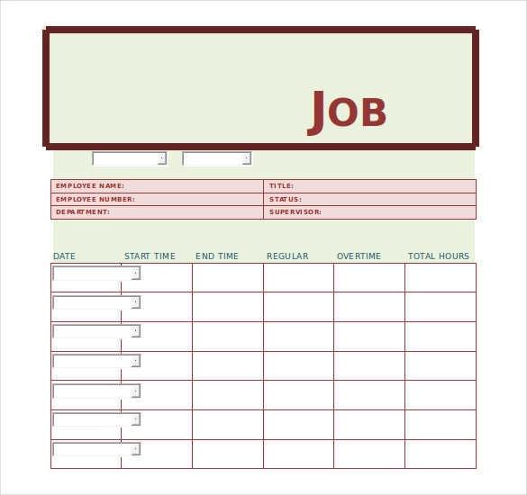 11 Free Job Sheet Templates Printable Word Excel Pdf Formats Maintenance Jobs Job Cards Job