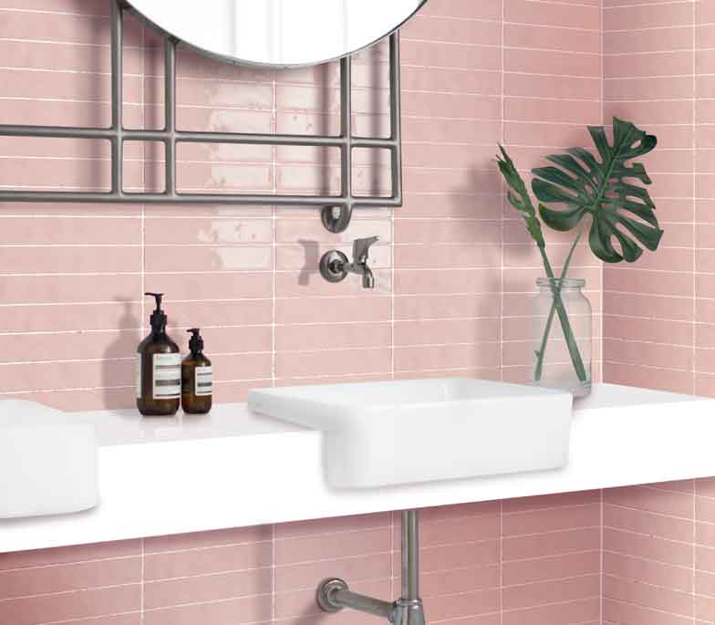 WishList - TileStyle in 2020 | Pink bathroom tiles, Slate ...