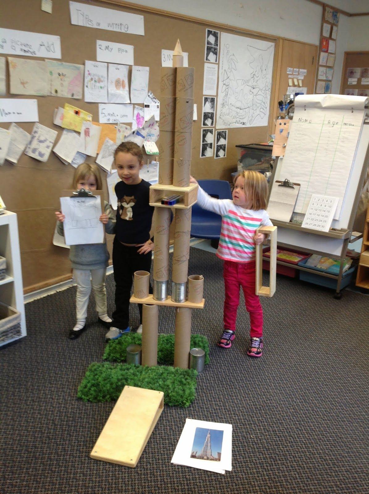 Wonders in kindergarten an inquiry on towers building on for Center block house