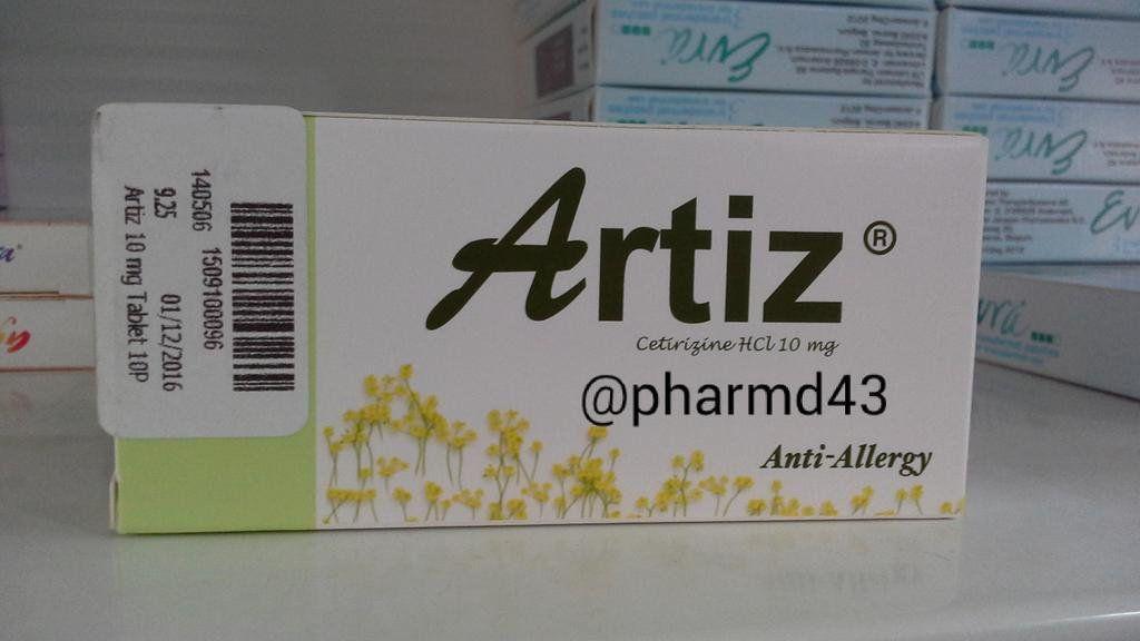 Artiz 10 Mg العلاج الفعال للحساسية وموانع الاستخدام Allergies Anti Allergy 10 Things