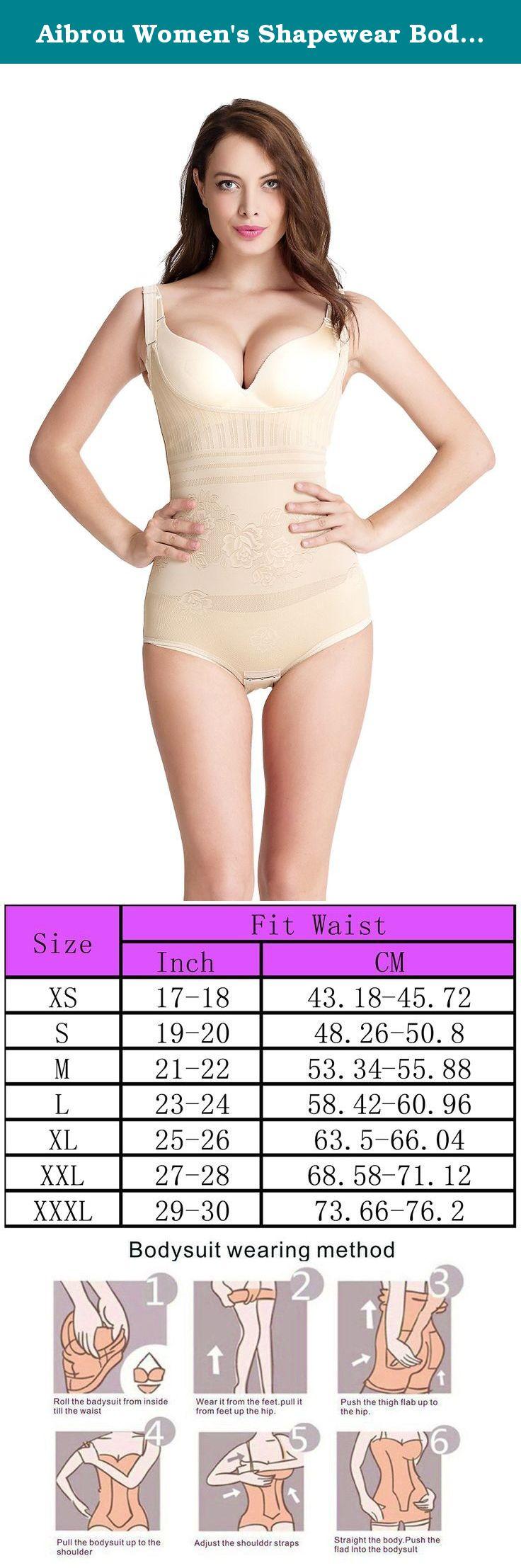 b13dba1626148 Aibrou Women s Shapewear Body Briefer Slimmer Full Body Shaper(Apricot