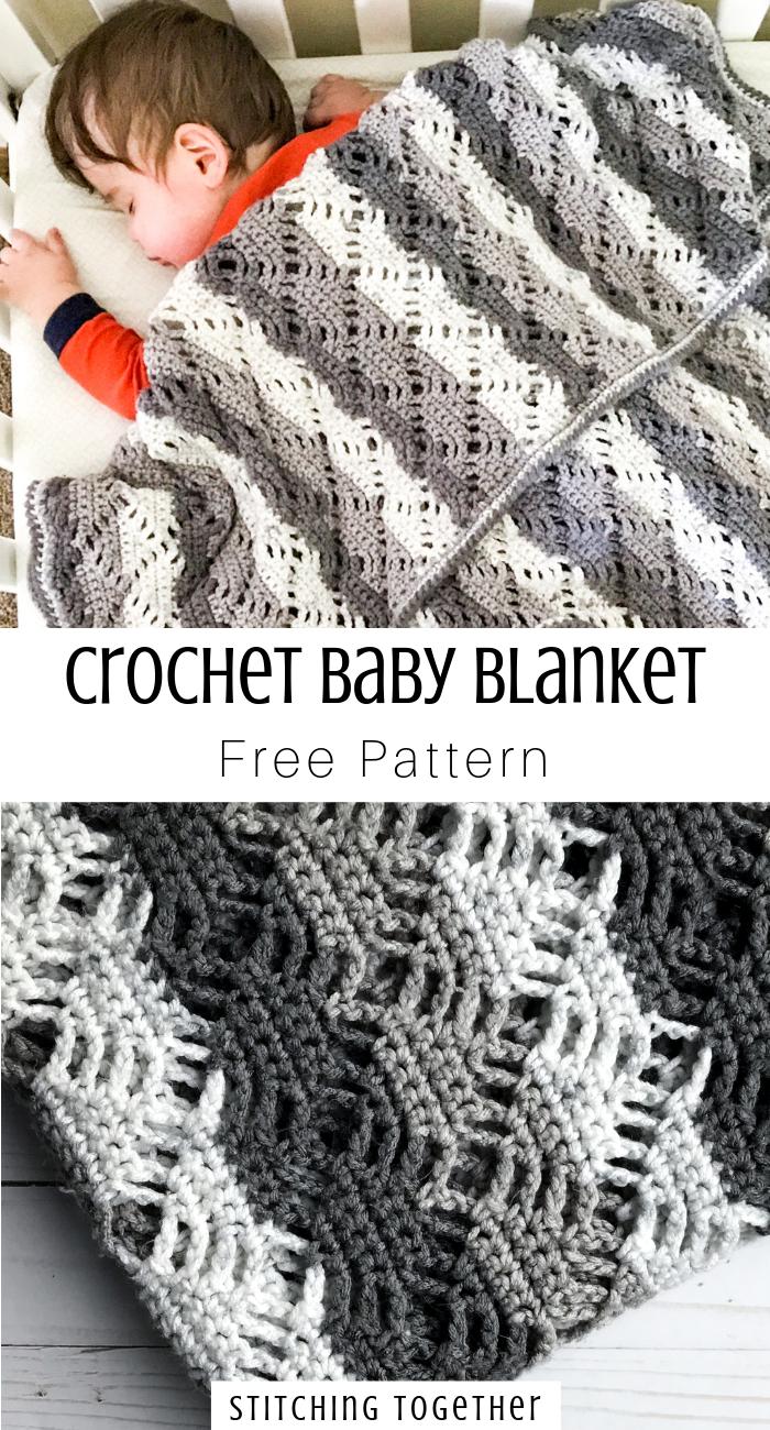 Crochet Diamond Lace Baby Blanket #babyblanket
