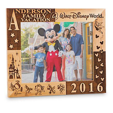 PERSONALIZÁVEL! US$ 65 PERSONALIZÁVEL! Walt Disney World 2016 Frame by Arribas - 8'' x 10'' - Personalizable