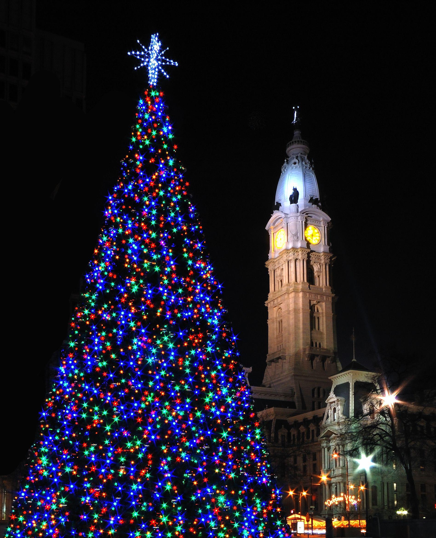 Blue tree christmas pinterest christmas scenery