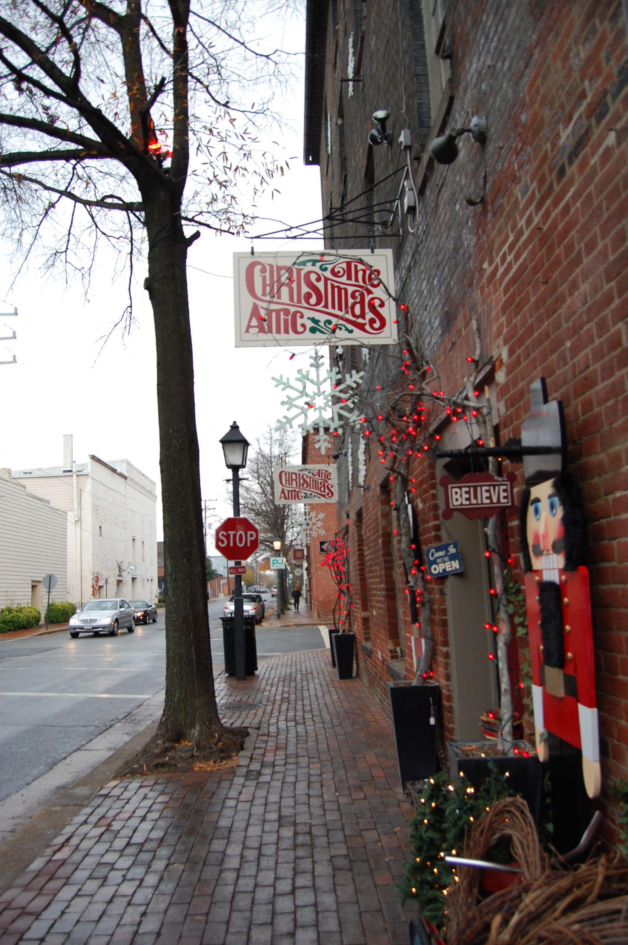 The Christmas Attic 125 S. Union St. Alexandria, VA 22314