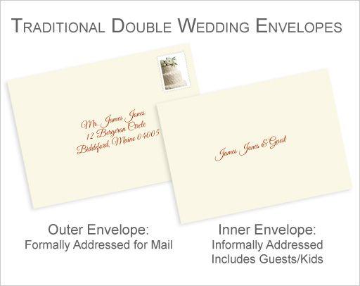 Properly Address Pocket Invitations Without Inner Envelopes Addressing Wedding Invitations Wedding Invitation Envelopes Wedding Invitation Etiquette