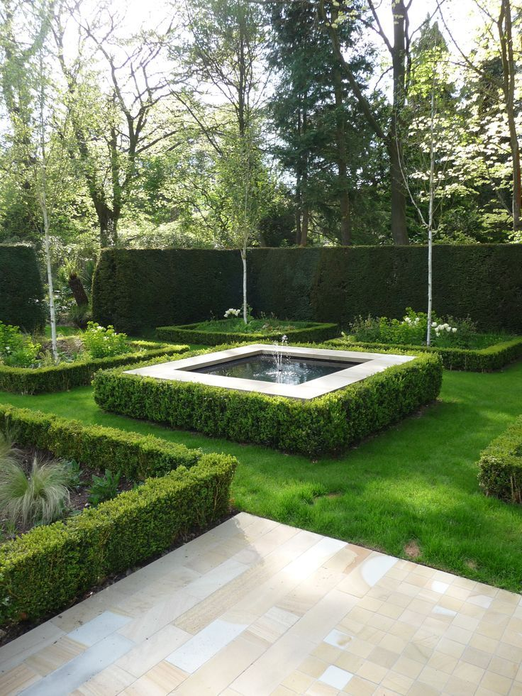 Image result for square water feature with tree current