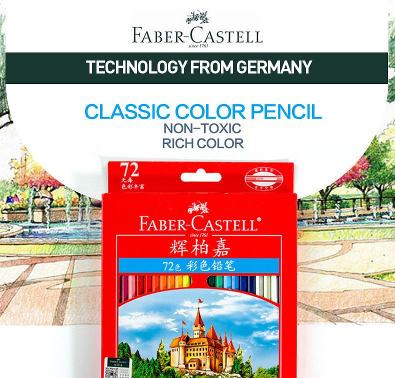 faber castell 72 colored pencils professional drawing pen