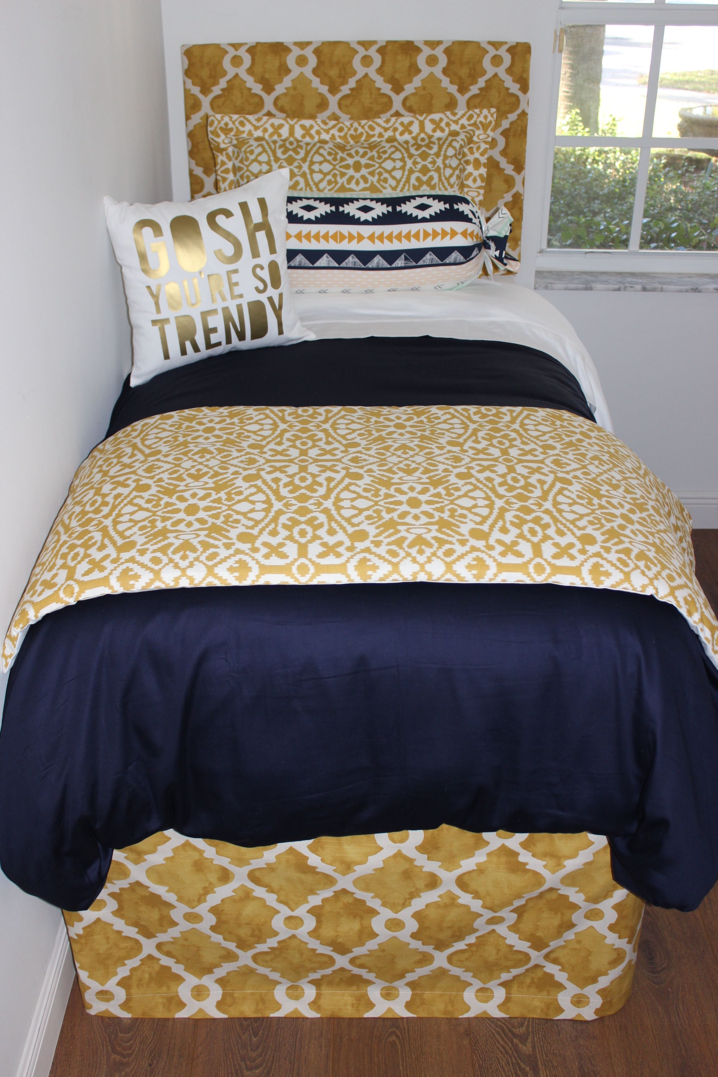 Hot New Dorm Bedding Trendy Tribal Peach And Mint Love