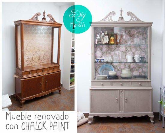 Tunear un mueble con chalk paint restaurar pintar - Pintar muebles viejos ...