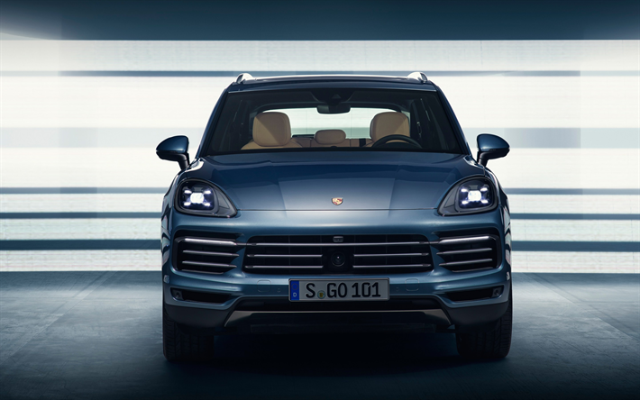 Download wallpapers 4k, Porsche Cayenne, 2019 cars, SUVs