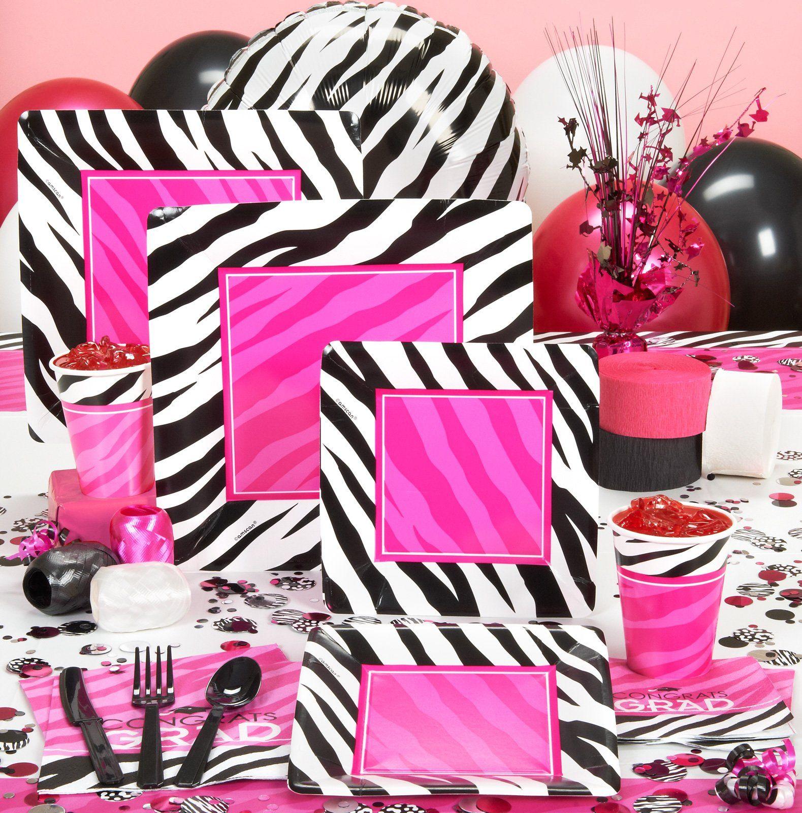 Zebra Graduation Party Supplies 81415 Slumber Party Birthday