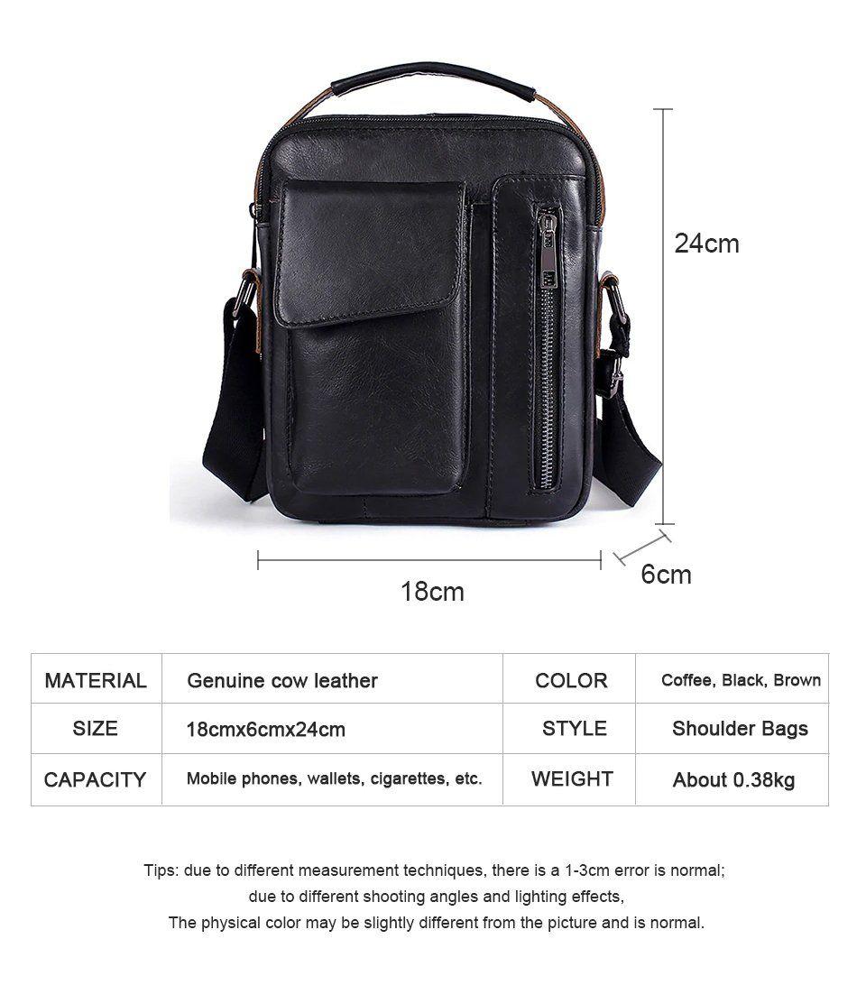 Shoulder Bag Small Messenger Bag Tablets and Documents