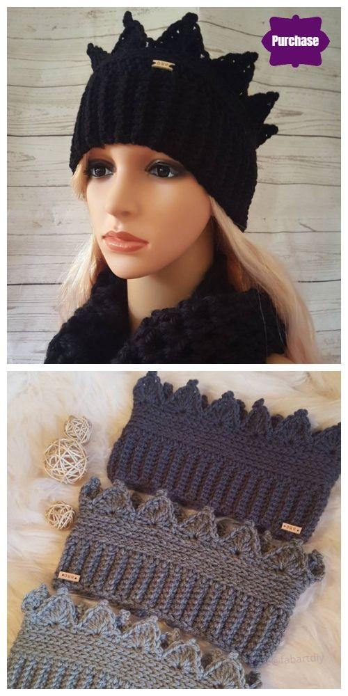 Crochet Crown Ear Warmer Free Crochet Pattern  #crochetedheadbands