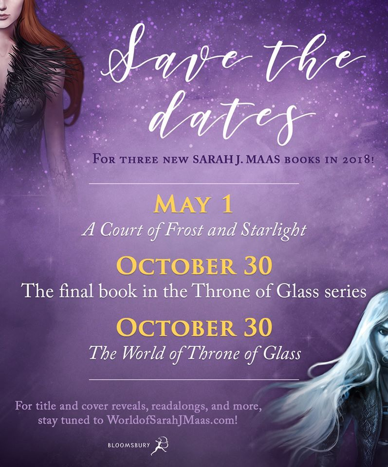 Sara J Maas 2018 Release Dates Throne Of Glass Throne Of Glass