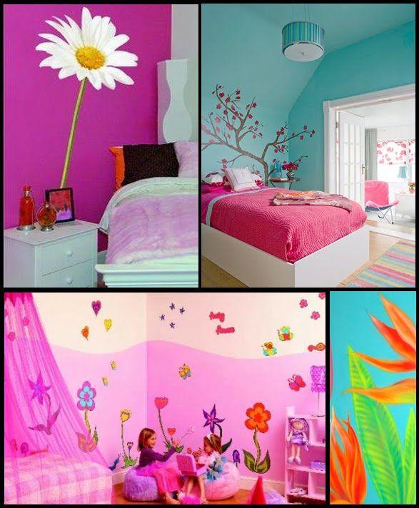Paret pintada habitacion ni a cerca amb google - Dormitorio infantil nina ...