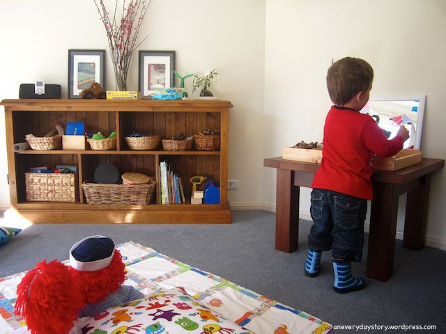 reggio emilia playroom and nature table {An Everyday Story}