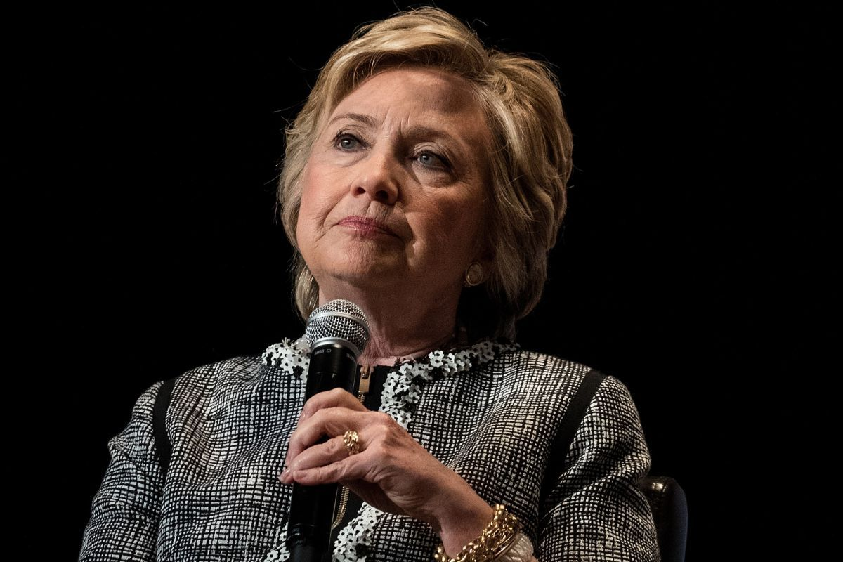 """Call it the most epic """"defeat lap"""" ever: Hillary Clinton can't stop showing the world why she lost. At a conference in California on Wednesday, she insisted her email mess was """"the biggest nothing-…"""
