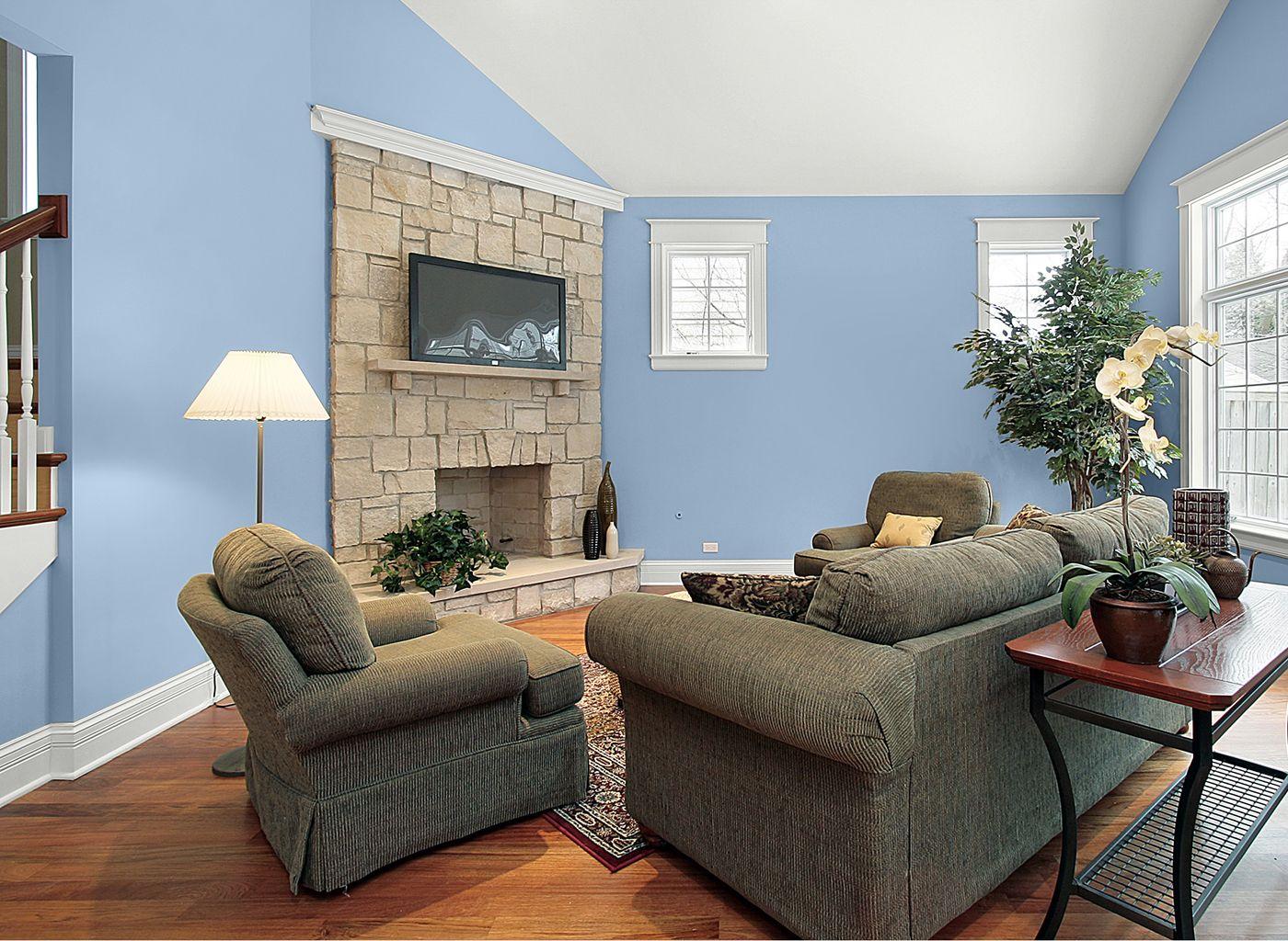 Living Room in Jordan\'s Blue | painted rooms | Pinterest | Living ...