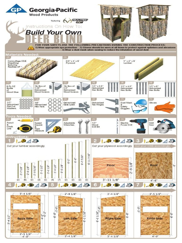 Deer Blind Deer Stand Plans Deer Blind Deer Hunting Blinds
