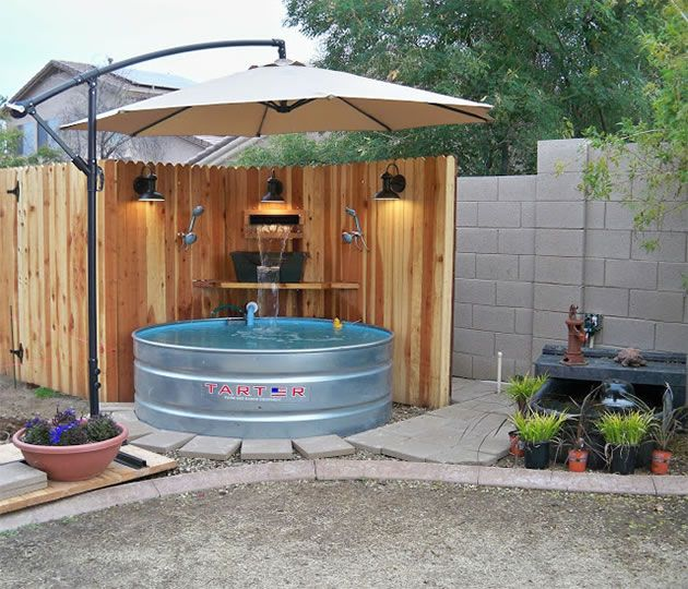 low budget homemade diy swimming pools living lifestyle pinterest garten schwimmb der. Black Bedroom Furniture Sets. Home Design Ideas