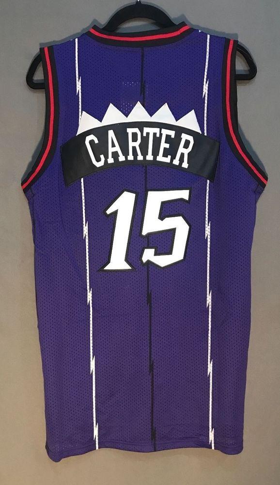 vince carter 15 purple toronto raptors throwback basketball jersey stitched men