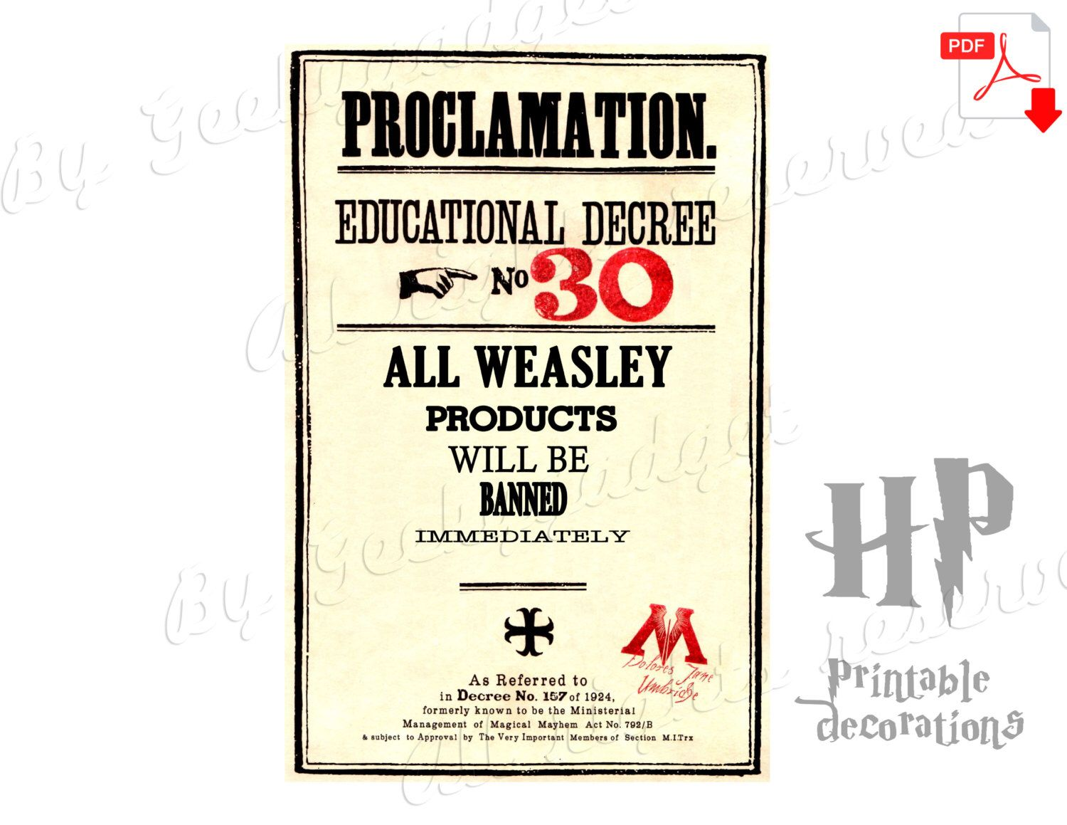 Weasley products Educational Decree proclamation(#30 ...