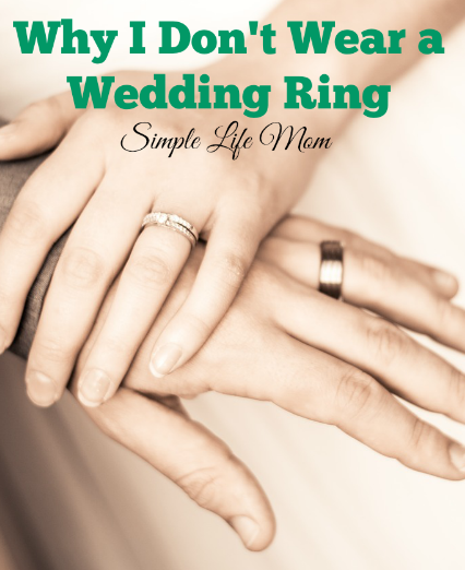 Why I Don't Wear A Wedding Ring Frugal wedding, Wedding