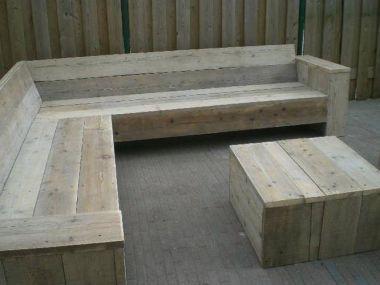 Steigerhouten loungeset zelf gaan maken wooden for Zelf loungeset maken