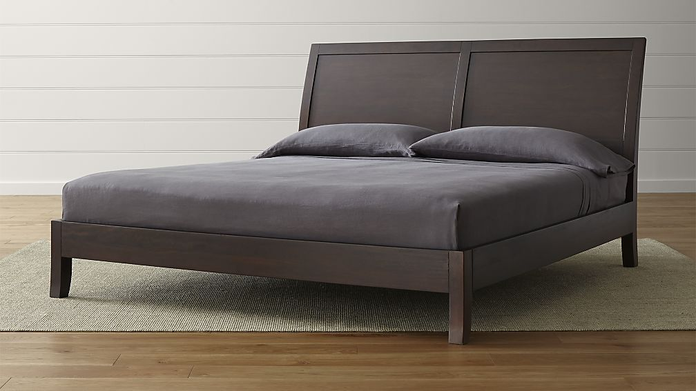 Dawson clove king sleigh bed crate and barrel - Crate barrel bedroom furniture ...