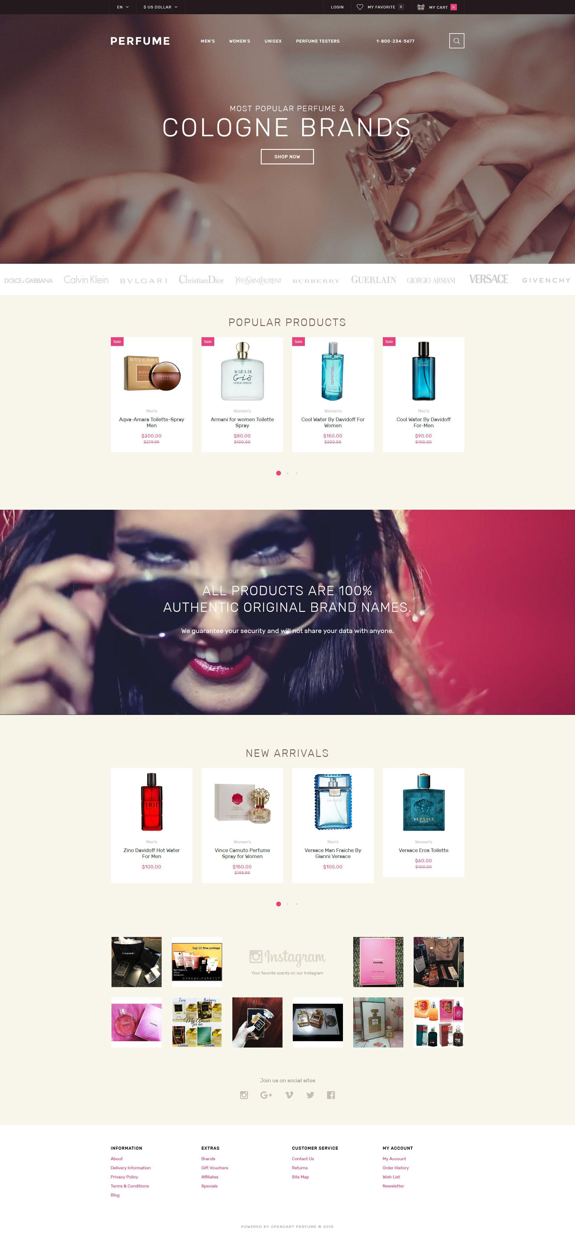 perfume shop opencart template opencart themes pinterest