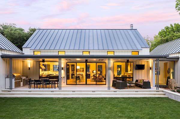 Extraordinary Modern Farmhouse In Rural Texas By Olsen Studios Step Design Exterior