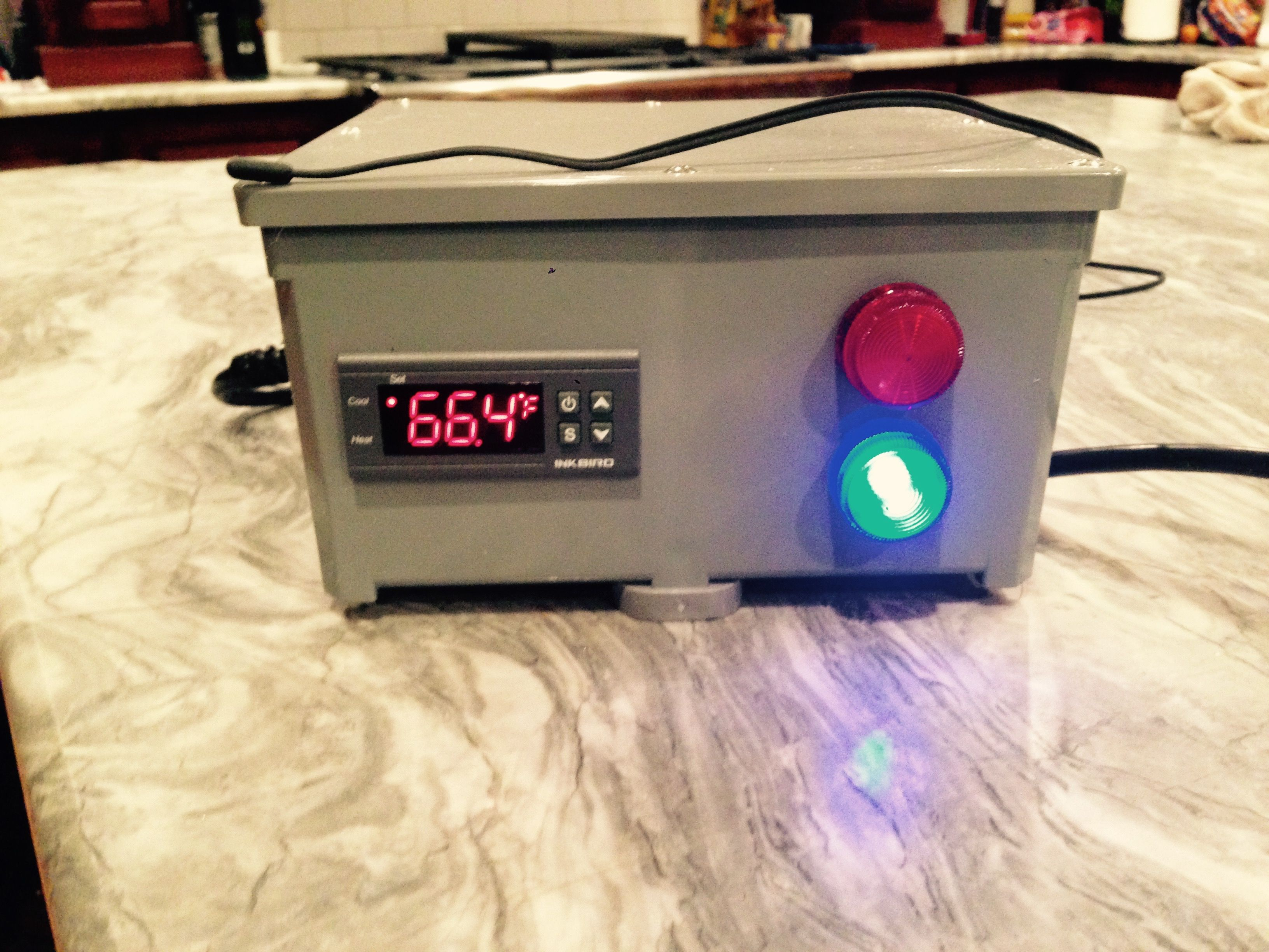 2 Stage Temperature Controller With Indicator Lights For My Brewing Help Wiring An Stc1000 Homebrewing Fermenter