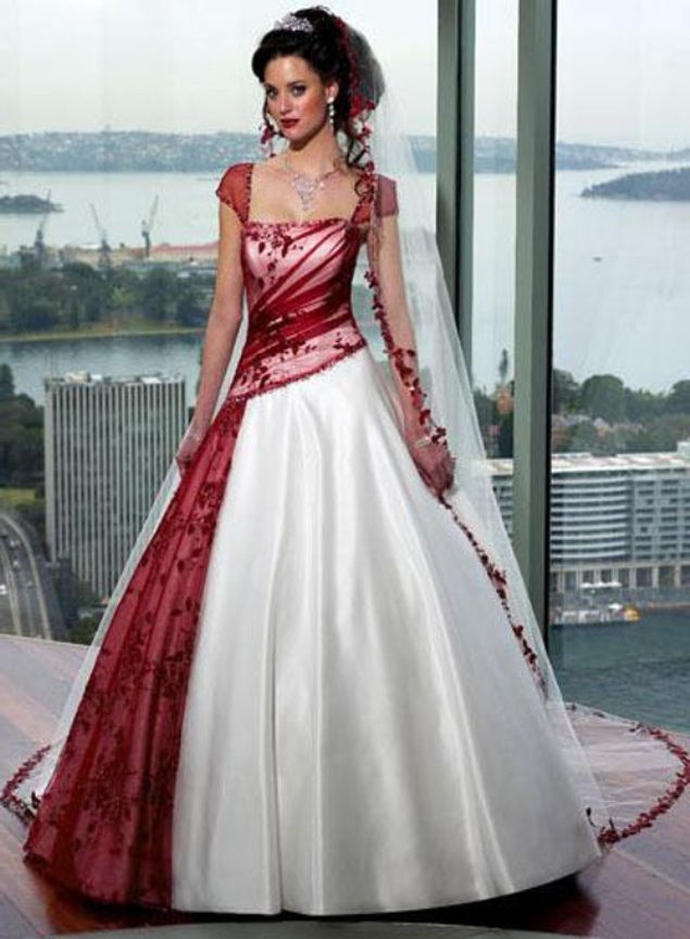 non white wedding gowns - Google Search | Non White Wedding Covers ...