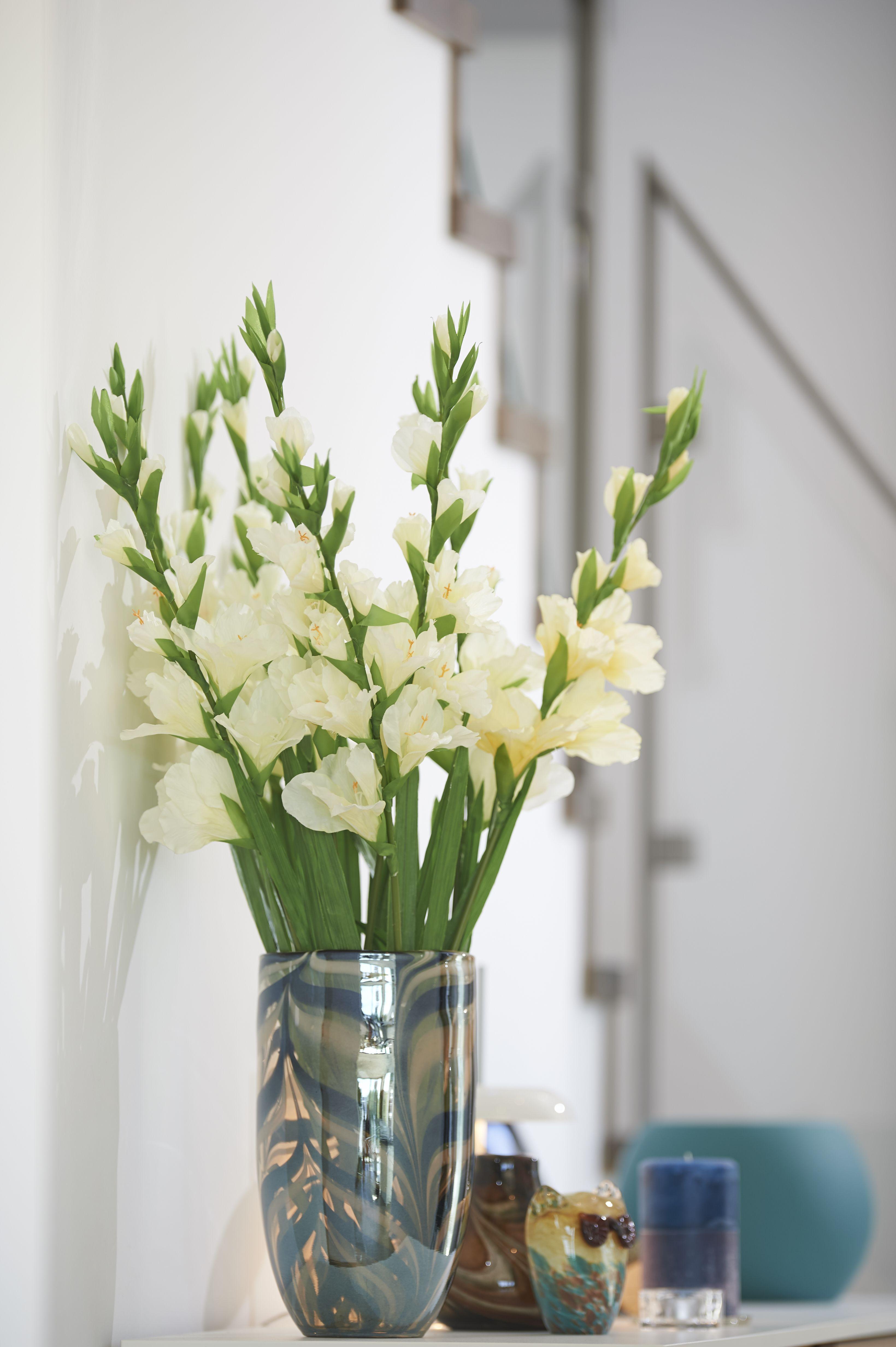 Blumendekoration im Musterhaus Buchrasen