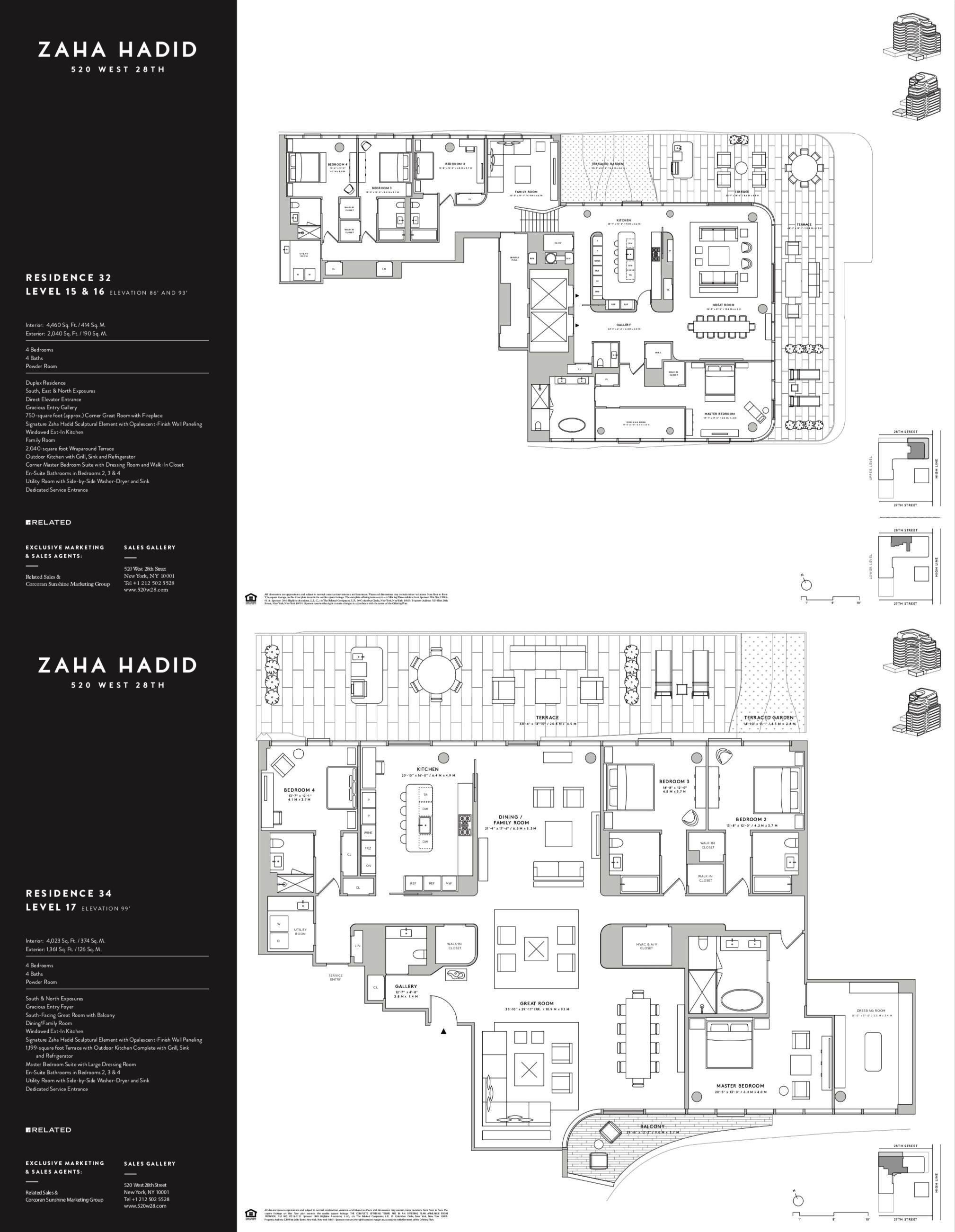 520 W 28th Street By Zaha Hadid Residence 32 34 Layout Architecture Penthouse Apartment Floor Plan Architecture Presentation