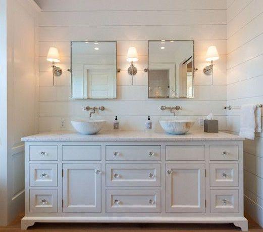 Shiplap Bathroom Vanity: Pin By Katie Rademaker On Bathrooms In 2019