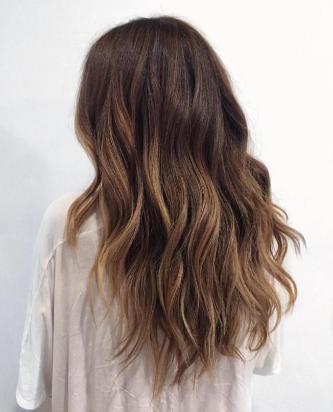 black to ash brown ombre