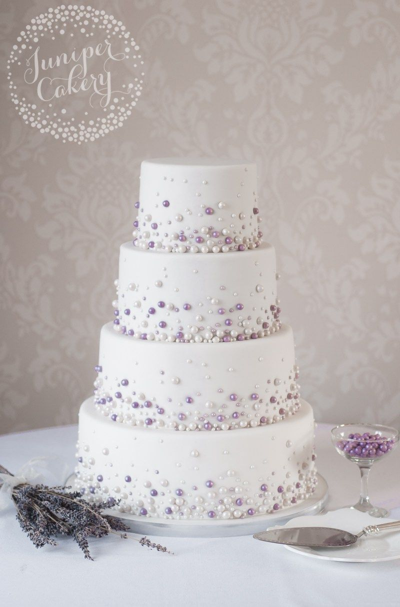 Pearl studded wedding cake by juniper cakery great gabsy party
