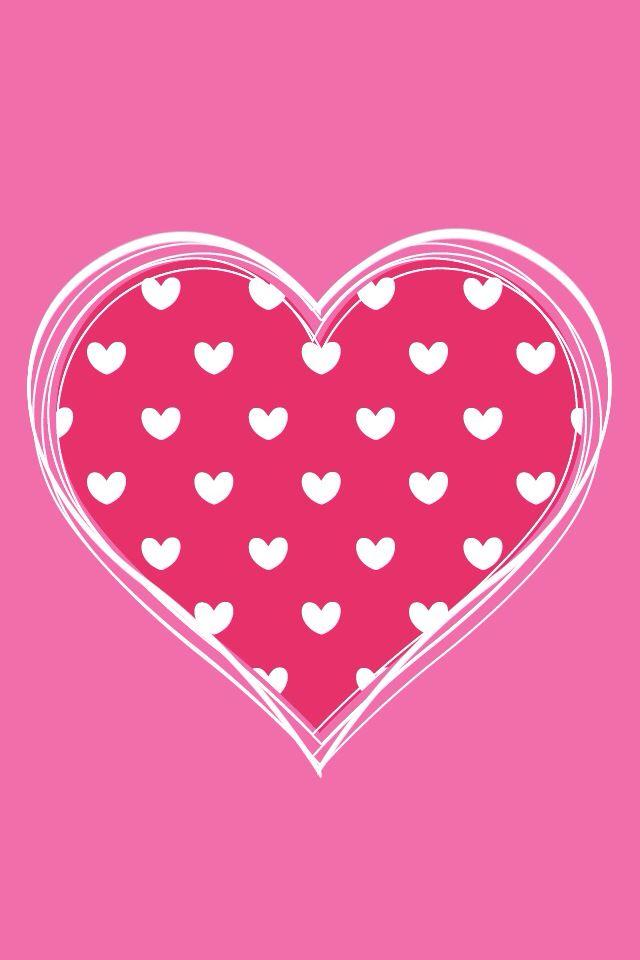 Iphone Wallpaper Image De Fond Coeurs Roses Cartes Coeur