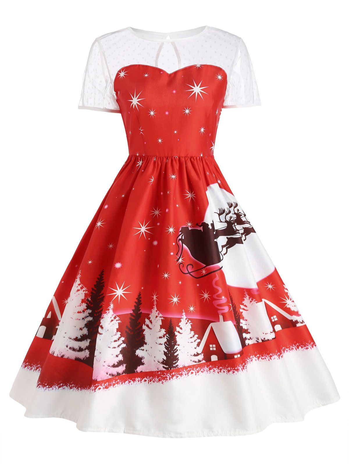 634b45098c Wholesale Santa Claus Deer Christmas Vintage Dress M Red Online. Cheap  Vintage Dress And Floral Vintage Dress on Rosewholesale.com