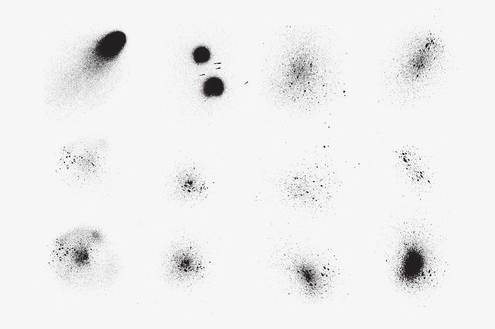 Grunge Splatter Brushes Splatter Brushes Illustrator Brushes