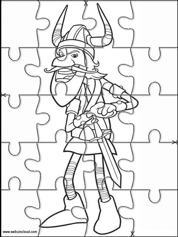 wickie 9 zu drucken puzzlespiele aktivitäten für kinder