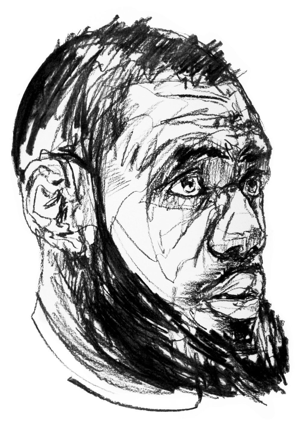 Portrait of lebron james by laïs takanashi drawing on paper 50 x 60 cm 2018